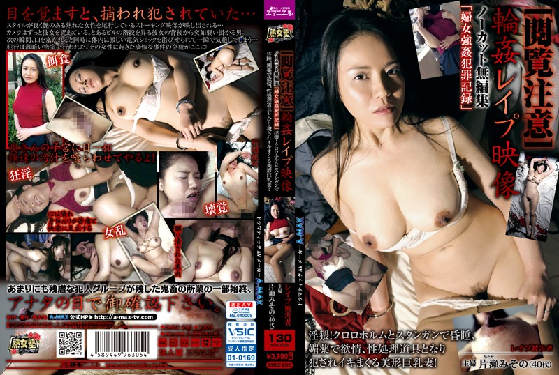 Cover [EMBZ-205] [Reading Notice] Ring ●Le ●Pup Video Uncut Unedited, Strong Female ●Criminal Record Obscene! ● With Chloroform And Stun Guns ●, Aphrodisiac With Lust, Becoming A Sexual Processing Tool ● A Beautiful Busty Wife Who Is Crazy! Misato Katase